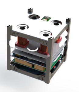 CUBE - 1U CubeSat equipped with sensors and actuators for proximity GNC